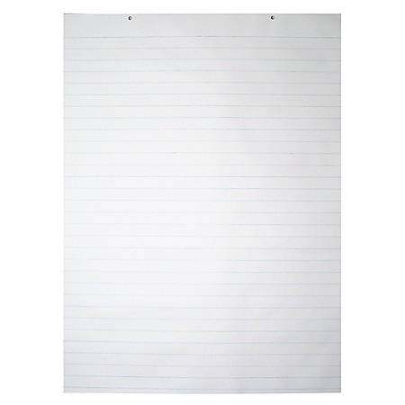 "Pacon® Chart Pad, 24"" x 32"", 2-Hole Top Punched, 1"" Ruled, 70 Sheets"
