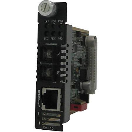 Perle CM-110-S2SC120 Fast Ethernet Media Converter - 1 x Network (RJ-45) - 1 x SC Ports - 10/100Base-TX, 100Base-ZX