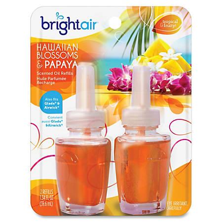 Bright Air Scented Oil Warmer Air Freshener Refill - Oil - Hawaiian Blossom, Papaya - 45 Day - 12 / Carton - Long Lasting