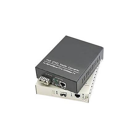 AddOn 2 10/100Base-TX(RJ-45) to 1 100Base-LX(ST) SMF 1310nm 20km Industrial Media Converter Switch