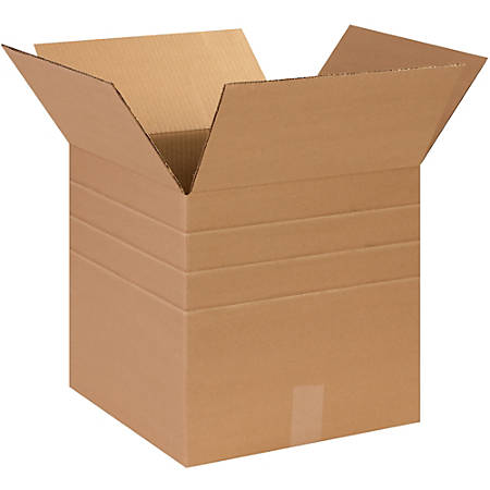 "Office Depot® Brand Multi-Depth Corrugated Cartons, 14"" x 14"" x 14"", Kraft, Pack Of 25"