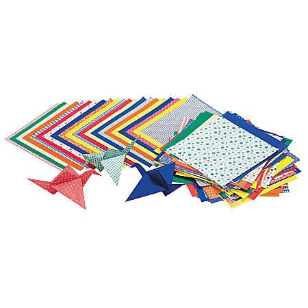 "Roylco® Economy Origami Paper, 6"" x 6"", Multicolor, 72 Sheets Per Pack, Set Of 3"