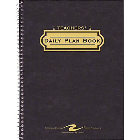 roaring spring teachers daily planner 8 12 x 11 by office depot