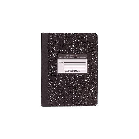 "Roaring Spring Composition Book, 7 1/2"" x 9 3/4"", Wide Ruled, 100 Sheets, Black Marble"