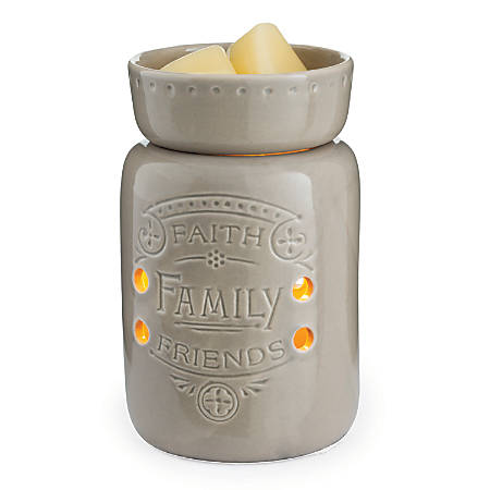 """Candle Warmers Etc Midsize Illumination Fragrance Warmers, 6-7/16"""" x 4-5/8"""", Faith Family Friends, Pack Of 6 Warmers"""