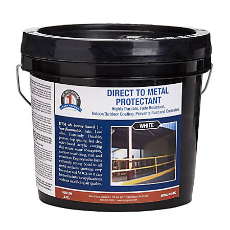 Bare Ground Solutions 1 Shot Direct To Metal Protectant Paint, 128 Oz, White