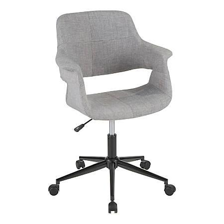 ab9097183b7 LumiSource Vintage Flair Mid Century Modern Mid Back Chair GrayBlack ...