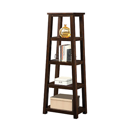 Whalen Triton 5 Shelf Bookcase Walnut