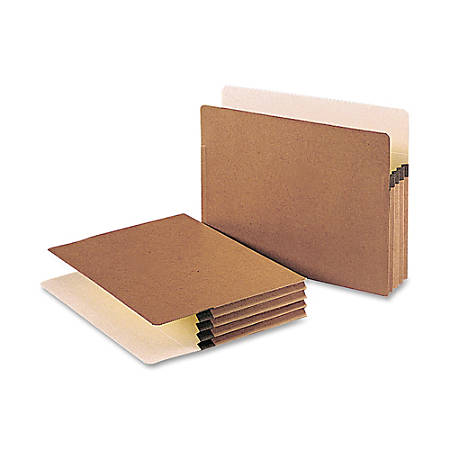 "Smead® Redrope File Pockets, Letter Size, 3 1/2"" Expansion, 30% Recycled, Redrope, Box Of 50"