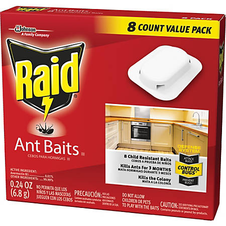 Raid Ant Baits - Kills Ants - 0.24 oz - Tan
