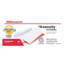 Office Depot Clean Seal Business Envelopes
