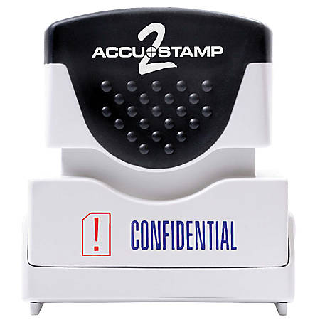 "ACCU-STAMP2® Pre-Ink Message Stamp, ""Confidential"", Red/Blue"