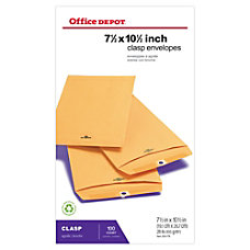 Office Depot Brand Clasp Envelopes 7