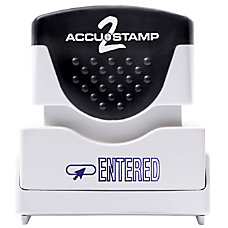 ACCU STAMP2 Entered Stamp Shutter Pre