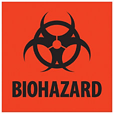 Tape Logic Preprinted Labels Biohazard Square