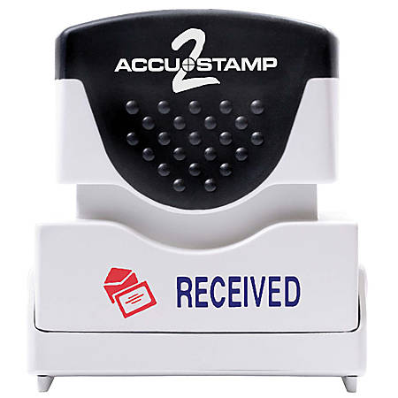 "ACCU-STAMP2® Pre-Ink Message Stamp, ""Received"", Red/Blue"