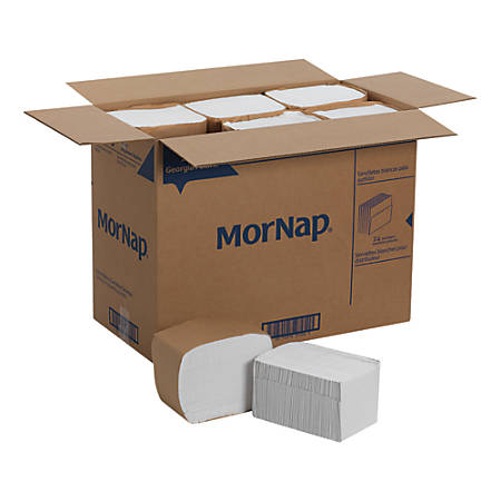 "MorNap® Full-Fold Dispenser Napkins, 12"" x 17"", White, 250 Sheets Per Sleeve, Case Of 6,000"