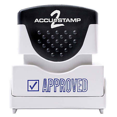 "ACCU-STAMP2® Pre-Ink Message Stamp, ""Approved"", Blue"