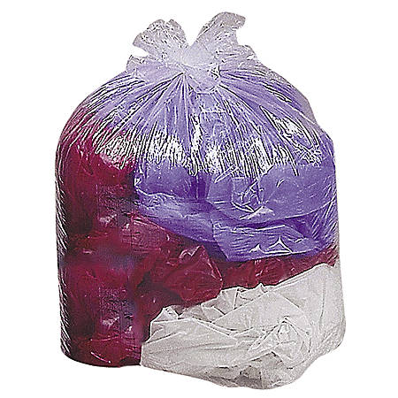 """Genuine Joe Super Hexene Clear Trash Can Liners, 33 Gallons, 33"""" x 39"""", Box Of 250"""