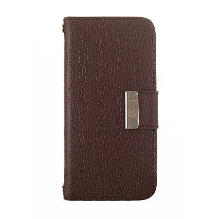 Kyasi Signature Phone Wallet Case For iPhone®5/5S, Saddleback Brown