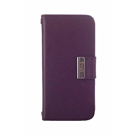 Kyasi Signature Phone Wallet Case For Samsung Galaxy S5, Deep Purple