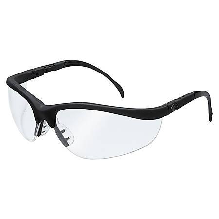 MCR Safety Klondike Unisex Protective Goggles, Matte Black