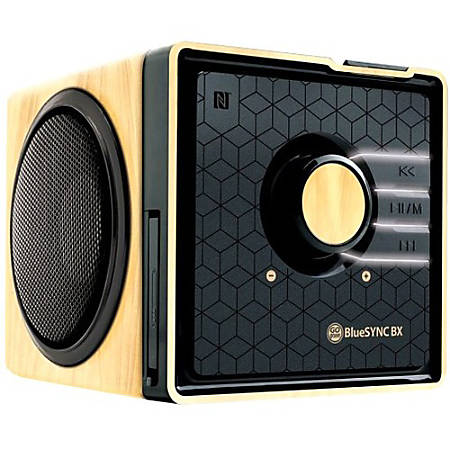 GOgroove BlueSYNC BX Bluetooth® Wireless Speaker, Wood/Gloss Black