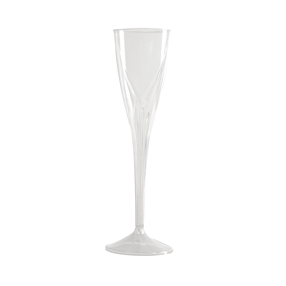 Classicware� Clear Plastic Champagne Flutes, 5 Oz., Pack Of 100