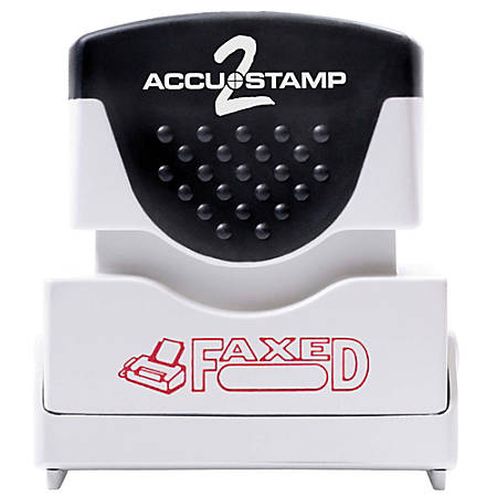 "ACCU-STAMP2® Pre-Ink Message Stamp, ""Faxed"", Red"