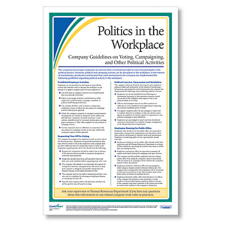 "ComplyRight Politics In The Workplace Poster, English, 11"" x 17"""