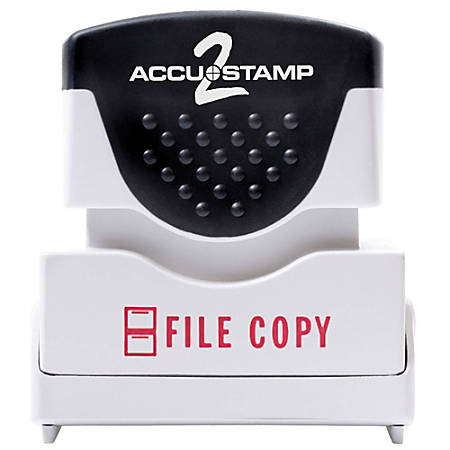 "ACCU-STAMP2® Pre-Ink Message Stamp, ""File Copy"", Red"