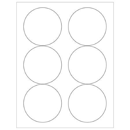 "Office Depot® Brand Inkjet/Laser Labels, LL147, Round, 3 3/8"", White, Case Of 600"