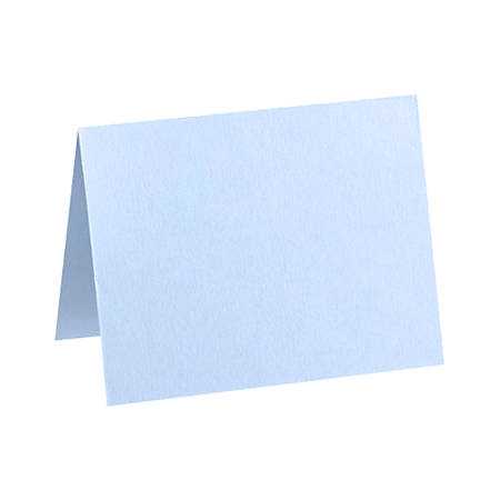 "LUX Folded Cards, A9, 5 1/2"" x 8 1/2"", Baby Blue, Pack Of 50"