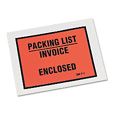 3M Packing ListInvoice Enclosed Envelopes Full