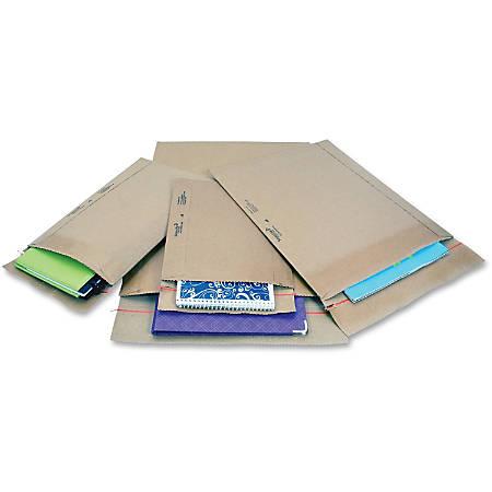 "Jiffy Mailer Padded Self-seal Mailers - Multipurpose - #3 - 8 1/2"" Width x 14 1/2"" Length - Self-sealing Flap - Kraft - 25 / Carton - Natural Kraft, Satin Gold"