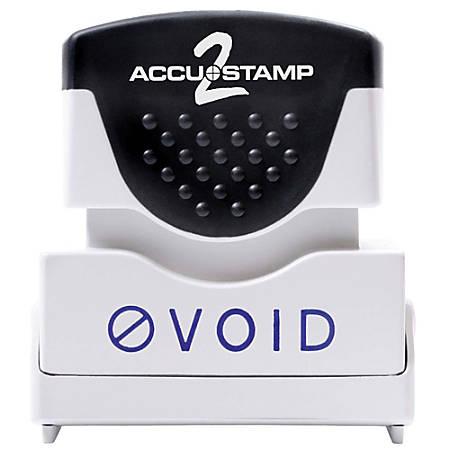 """Accu-Stamp2® Pre-Ink Message Stamp, """"Void"""", Blue"""