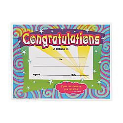 Trend CongratulationsSwirls Award Certificates 850 x