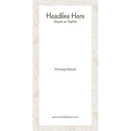 Custom Vertical Display Banner, Abstract Design Frame