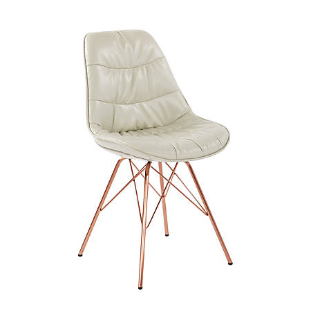 Ave Six Langdon Chair, Cream/Rose Gold
