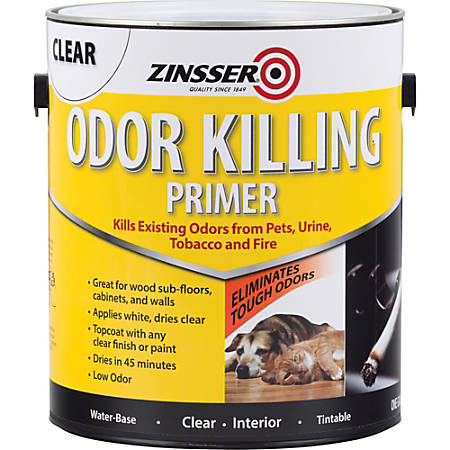 Zinsser Odor-Killing Primer, 128 Oz, Clear
