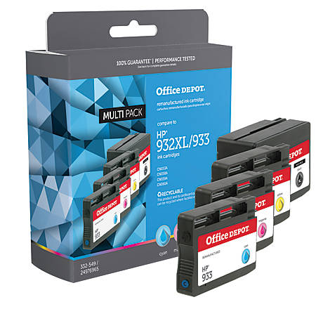 Office Depot® Brand OD932XLK933CMY-C Remanufactured High-Yield Ink Cartridge Replacement For HP 932XL/933, Multi-pack