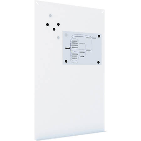 """MasterVision Tile Whiteboard Wall System - 58.3"""" (4.9 ft) Width x 38.6"""" (3.2 ft) Height - White Surface - Rectangle - 1 Each"""