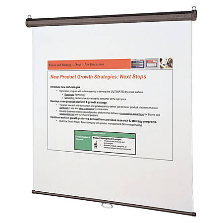 "Quartet® Wall Or Ceiling Projection Screen, 70"" x 70"""