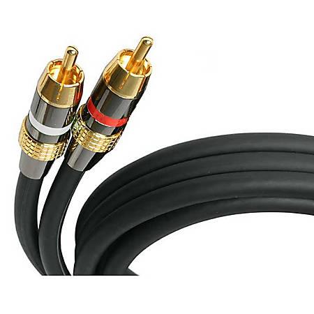 StarTech.com Premium Audio Cable - 30ft - 2 x RCA, 2 x RCA - Audio Cable External - Black - 30 ft - 1 x RCA Male Audio - 1 x RCA Male Audio - Black