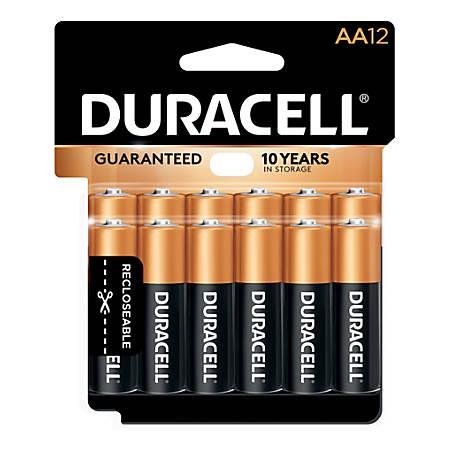 Duracell Coppertop Alkaline AA Batteries, Pack Of 12