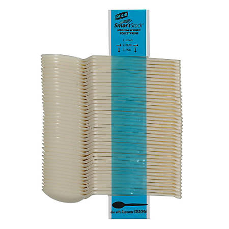 Dixie® SmartStock® Bio-Blend Cutlery, Spoons, Beige, Box Of 960