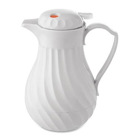 Hormel® Swirl Design Carafe, 64 Oz., White