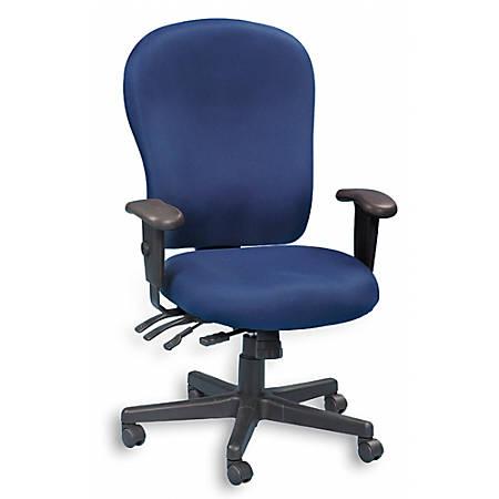 "Raynor® XL 4 x 4 Fabric Task Chair, 47""H x 29""W x 26""D, Black Frame, Navy Fabric"