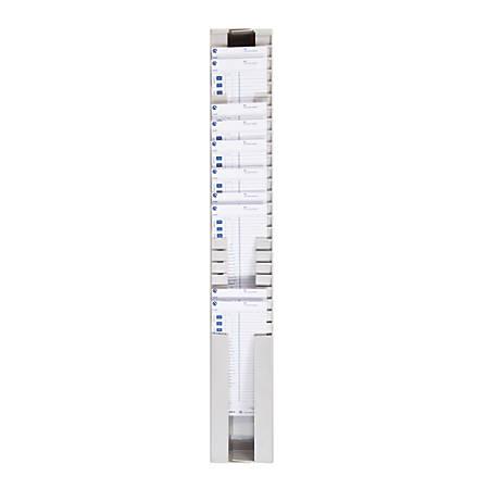 Pyramid™ Adjustable Time Card Rack, Light Gray