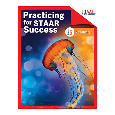 Shell Education TIME For Kids Practicing For STAAR Success: Reading, Level 5, English, Grade 5